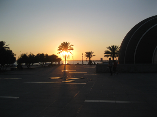 Sunset outside the Bibliotheca Alexandrina — the new Library of Alexandria — where the Cosmopolis Project was launched in June 2012.